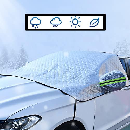 Kwak's - Parasoles para Ventanas Delanteras de Coche, láminas de protección contra el Hielo Frost Off Wind Screen Block Snow Ice Frost UV Ray Impermeable Adecuado para la mayoría de los Coches