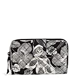 Vera Bradley Signature Cotton Turnlock Wallet with RFID Protection, Bedford Blooms
