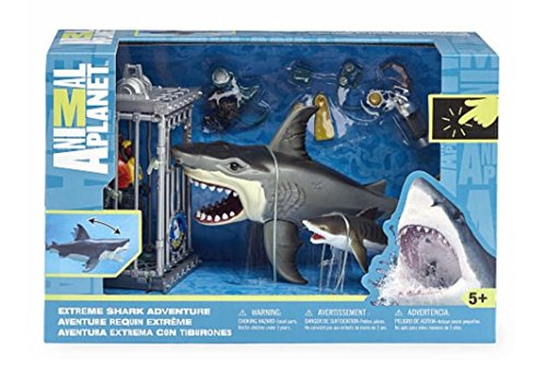 Animal Planet Deep Sea Shark Playset (with Great White Shark, Diver and Cage)