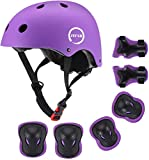 JIFAR Adjustable Helmet for Youth Kids Toddler Girls 3-14,Protective Gear with Elbow Knee Wrist Pads for Multi-Sports Bike Skateboarding Riding Hiking Scooter Inline skatings Longboard Roller Skate