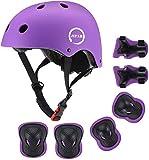 JIFAR Adjustable Helmet for Kids Toddler Girls 3-11,Protective Gear with Elbow Knee Wrist Pads for Multi-Sports Bike Skateboarding Riding Hiking Scooter Inline skatings Longboard Roller Skate