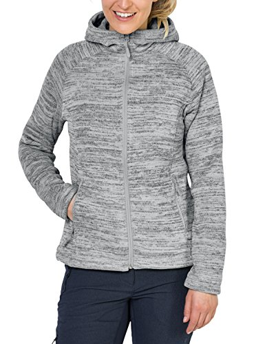 Jack Wolfskin Damen Aquila Hooded Jacket Women Fleecejacke, Grey Haze, S