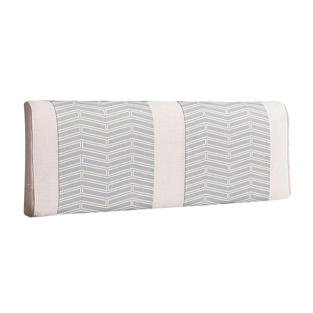 とてもオアシスなだめるZEMIN バック 床用靠垫 ウェッジクッション 布張り サポート 生活 寝室 リネン、 有/無 ヘッドボード、 3色、 8サイズ (Color : B-3, Size : 150CM)