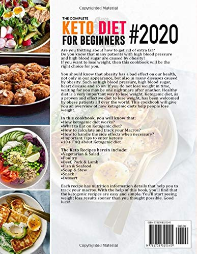 The Complete Keto Diet for Beginners #2020: Simple & Quick Low Carb, High Fat Ketogenic Recipes with 28 Days Meal Plan to Lose Weight, Prevent Diabetes and Lower Blood Pressure 2