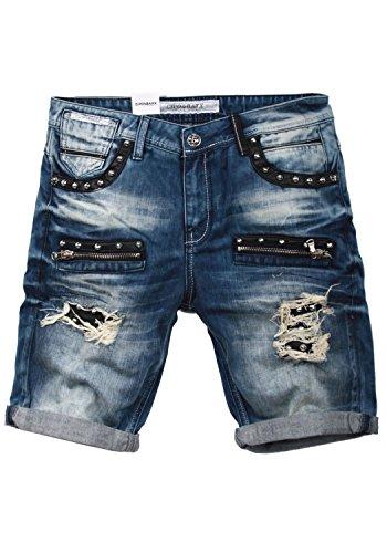 Cipo & Baxx Herren Jeans Shorts Bermuda CK181 (34W, blau)