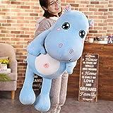 CPFYZH Cute Hippopotamus Plush Toy Plush Toy Hippo Doll Child Birthday Gift Child Sleeping Pillow-70Cm