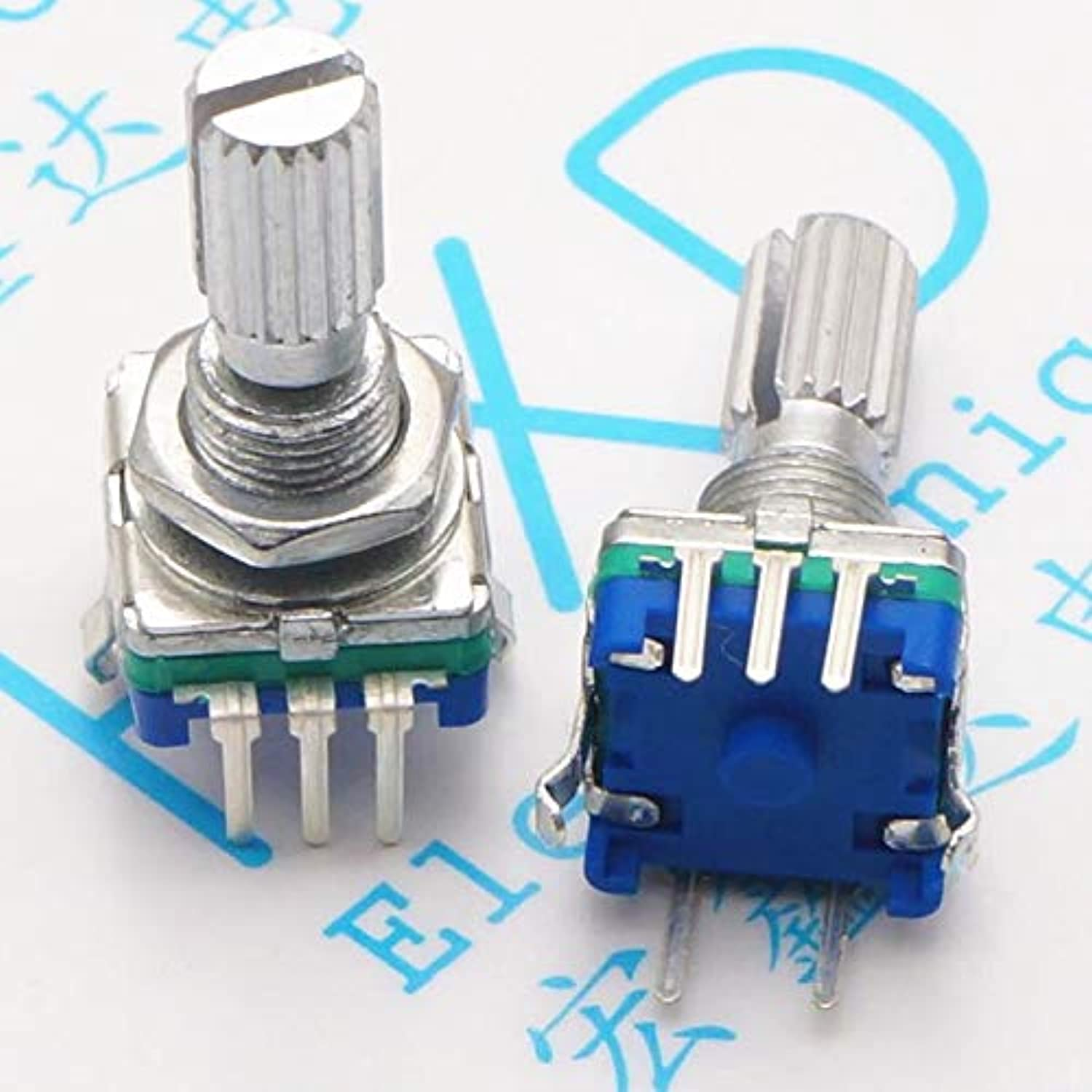 20pcs lot EC11 Plum 20mm Handle redary Encoder encoding Switch Digital Potentiometer with Switch pin Five
