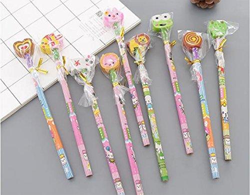 KMALL Set 25 matita in legno con gomma matite grafite colorate con gomme regalino per festa bambini compleanno battesimo comunione regalo compleanno regalo Natale per bambina Affilatrice matita