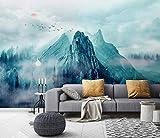 Papel Pintado Fotomural Vinilos Decorativos | Paisaje del Pico de la montaña de la concepción artística de Geyunhai | Papel Pintado Sala de Estar Dormitorio Oficina Pasillo Decoración-250cmx175cm