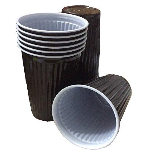 TRENDSKY® 3000x Premium Braun Thermobecher 180ml Plastikbecher Cups 0,18l Automatenbecher