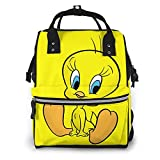 YYSDHRA Classic Tweety-Bird Fashion Diaper Bags Mummy Backpack Multi Functions Large Capacity Nappy Bag Nursing Bag for Baby Care for Traveling Women Men Gift