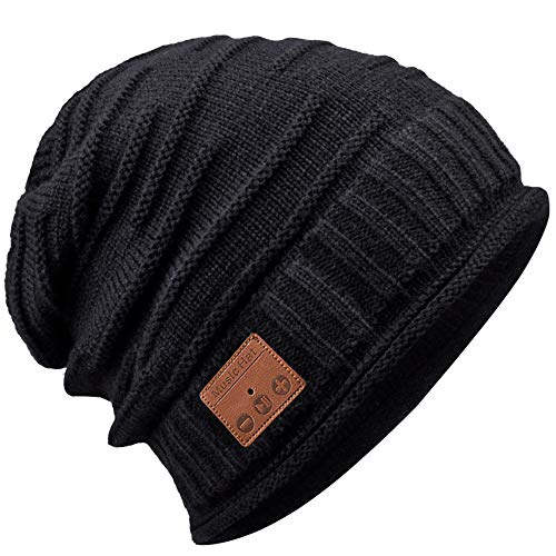 EastPin Bluetooth Beanie, Gifts for Men, Gifts for Women, Bluetooth Beanie Hat Black