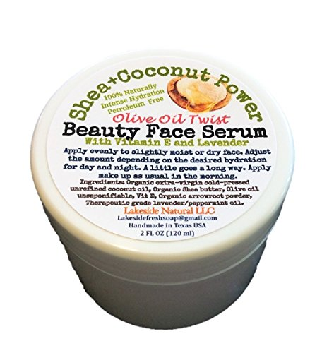 Zero Aqua Concentrated Face Serum Day and Night Instant Hydration- Shea Butter & Unrefined Coconut Oil Twisted with OLIVE OIL UNSAPONIFIABLE for Mature and Dry Skin