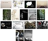 15 hochwertige Trauerkarten mit Umschlag – ein Beileidskarten Set von Davom