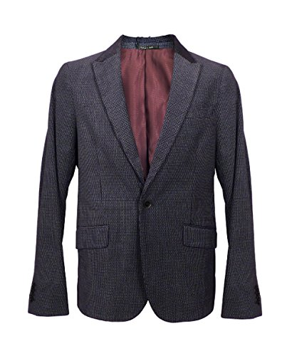 Scotch & Soda Homme Velvet Blazer, Bleu, Large