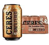 Ceres Unfiltered – Birra non filtrata morbida al palato, 6,9% vol. 24 lattine x 33cl