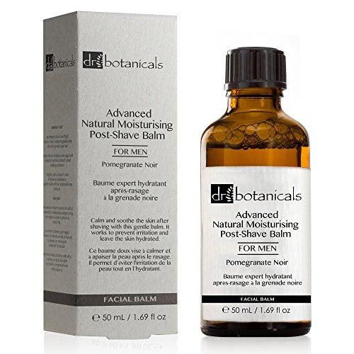 Dr Botanicals - Soin végétalien - Grenade Noir Advanced - Baume hydratant post-rasage naturel 50 ml