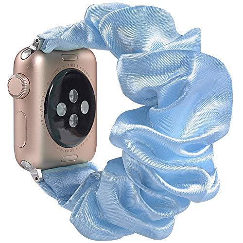 Miimall - Correa de reloj para Apple Watch Serie 1, 2, 3, 4, 5, 40 mm, 38 mm, color azul claro