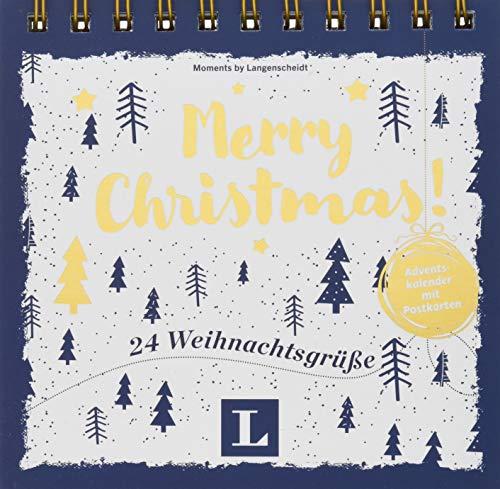 Merry Christmas! - Adventskalender mit Postkarten: 24 Weihnachtsgrüße (Postkarten-Aufstellbuch Weihnachten)