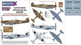 Montex Super Mask 1:48 Spitfire VIII for Eduard Kit Spraying Stencil #K48274