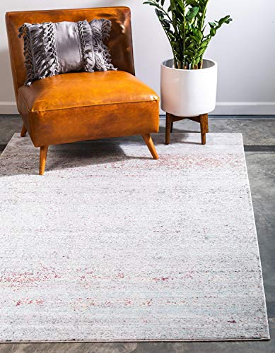 Unique Loom Austin Collection Casual Vintage Over-Dyed Gray Area Rug (6' 0 x 9' 0)