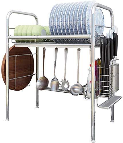 Stijlvolle en eenvoudige Home Schaal Rack Over Sink,RVS Schaal Rek Sink Drain Keuken Rack Opslag Rack Zwembad Drogen Schaal Rek Supplies, C-F