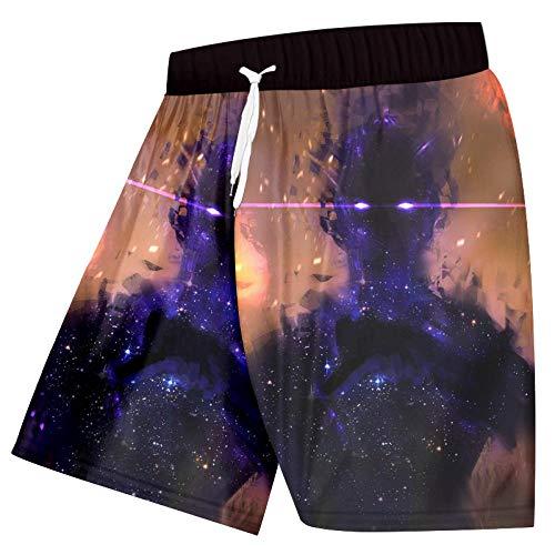 Short Homme Shorts De Plage pour Hommes 3D Cool Print Fashion Men Board Shorts Pantalons De Fitness Plus Size Quick Dry-Galaxy_Space_M