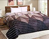 Signature Elanza Double Bed Super Soft Light Weight Warm Durable Flannel Blanket 380 GSM (Multicolor)