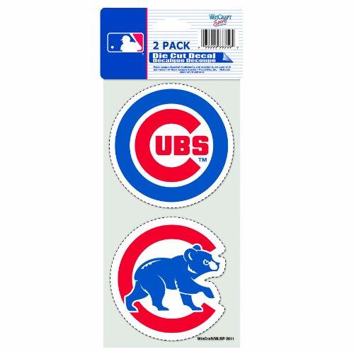 MLB Chicago Cubs 2-Piece Die-Cut Decal, 4' x 8'