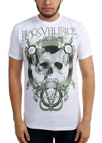 Black Veil Brides - - Tee-shirt de crâne Net Homme, Large, As Shown