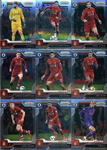 2019-20 Panini Prizm Premier League Soccer Liverpool FC Team Set 18 Cards: Alisson(#84),Trent Alexander-Arnold(#85), Virgil van Dijk(#86), Andy Robertson(#87), Joe Gomez(#88), Joel Matip(#89), James Milner(#90),Georginio Wijnaldum(#91), Fabinho(#92), Naby Keita(#93), Xherdan Shaqiri(94), Adam Lallana(95),Alex Oxlade-Chamberlain(96), Jordan Henderson(97), Divock Origi(98), Mohamed Salah(99), Roberto Firmino(100), Sadio Mane(101)