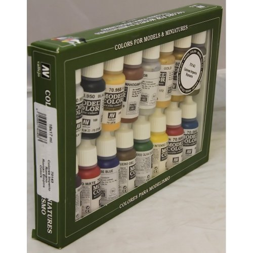 Vallejo 70143 MODEL COLOR SET 16 CO, colores surtido