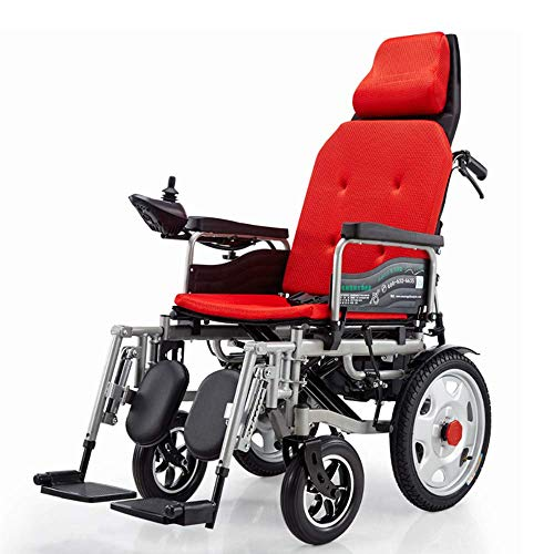 TWL LTD-Wheelchairs Rollstühle, die Leichten Elektrischen Rollator mit Prüfer und Verstellbarer Rückenlehne und Leistungsfähigem Doppelmotor für Ältere und Behinderte Benutzer Falten, b, b