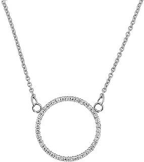 Dazzling 14k White Gold Diamond Circle of Love (0.65