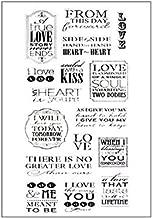 21 TIMBRI ACRILICI TRASPARENTI STAMP scritte in inglese SET SCRAPBOOKING