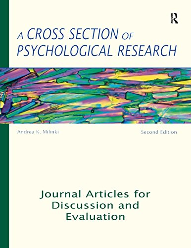 A Cross Section of Psychological Research: Journal Articles for Discussion and Evaluation
