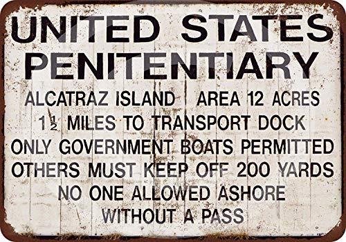 MAIYUAN Blechschild Alcatraz Gefängnis-Aluminium-Metallschild 20,3 x 30,5 cm (YCY4003)
