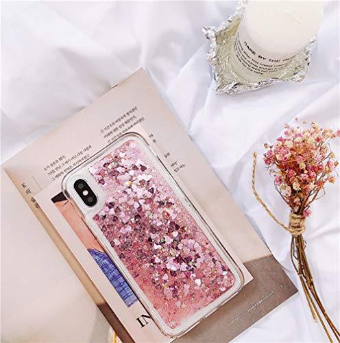 KKAAVV Funda Liquid Glitter Quicksand para Huawei P30 P20 Mate 30 20 10 Lite Pro Honor V10V20 8X Nova 6 5 5i 6E Funda Dynamic Liquid Cover, Rosa, para P30