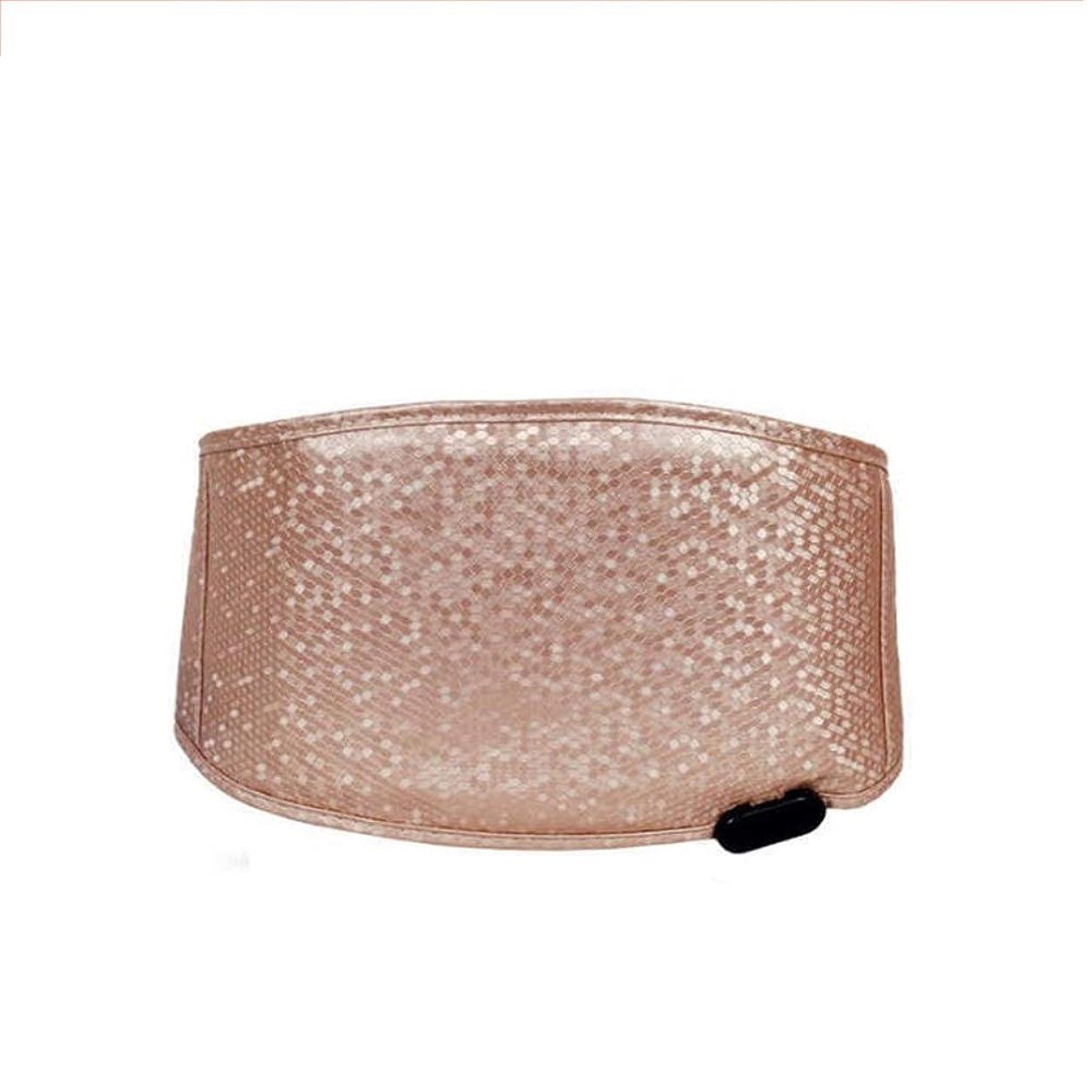 空傷つきやすいしたい加熱されたウエストブレース胃のけいれん月経治療背中の痛みのためのベルト暖房ラップバックパッド救済ポータブル腰椎サポート 腰痛保護バンド (色 : ゴールド, サイズ : FREE SIZE)