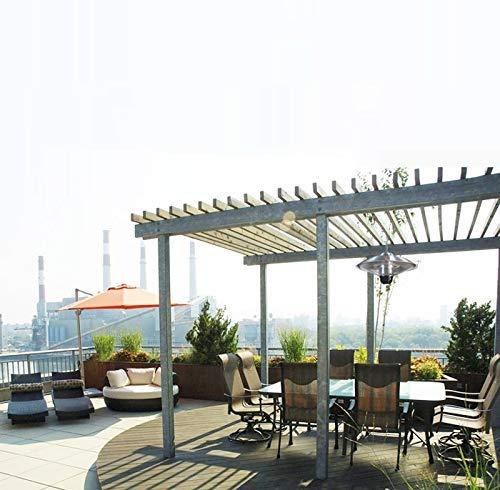 Sunlike calentador eléctrico infrarrojo Patio, Firefly de techo suspendido Lámpara halógena, calefacción e iluminación en la terraza o Gazebo |Elegante y seguro, control de potencia variable, oficina,: Amazon.es: Hogar