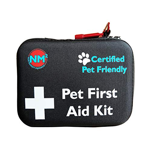 Pet First Aid Kit for Dogs & Cats | New 60 Piece First Aid...