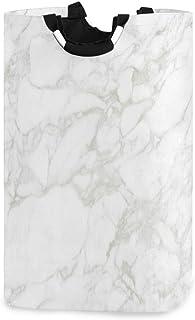 CaTaKu Panier à linge abstrait en marbre onyx et marbre - Grande boîte de rangement étanche - Facile à transporter - Pour ...