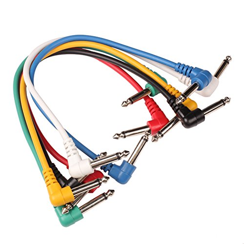 Tenflyer 6PCS Patch Cable ángulo recto Multicolor