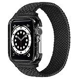 VeveXiao Étui de protection et sangle en nylon tressé compatible avec Apple Watch Band SE 44 mm...