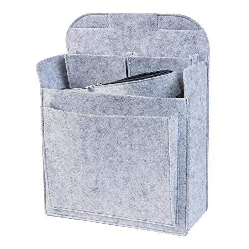 luxdag Rucksack Organizer aus Filz für Fjällräven Kanken Classic 16l (Farbe & Größe wählbar) - Taschenorganizer für Rucksäcke mit herausnehmbarer Reißverschlusstasche für 15 Zoll Notebook