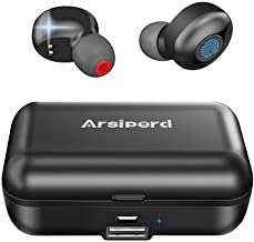 True Wireless Earbuds, Arsiperd Bluetooth 5.0 Headphones 60H Playtime IPX56 Waterproof Deep Bass Stereo Sound with Mic, Auto Pairing, Sport Earphones Headset Earpiece with 2000mAh Charging Case