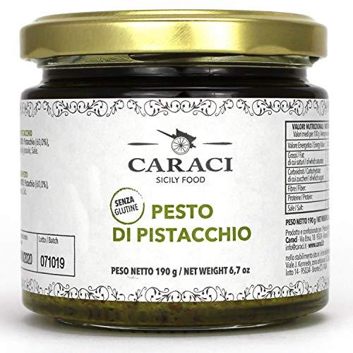 Pesto Di Pistacchio 60% Salato Condimento Siciliano Ideale Per Pasta Pizza Contorni E Ricette Tipiche Di Bronte Contenente Solo Pistacchio E Olio SENZA GLUTINE