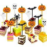 Quantità: comprende 50 pezzi topper cupcake con 5 diversi disegni, zucche, fantasmi, ragni, pipistrelli, scheletri Materiale: le sttuzzicadenti topper della torta sono fatte di plastica fine di qualità, solido e robusto Funzione: i sttuzzicadenti del...