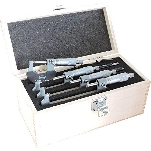 STEINLE Bügelmessschraube im Satz Typ: 2131 Messbereich: 0-100 mm Inhalt: 4 Messschrauben DIN 863 Aktionspreis gültig bis 31.10.2020