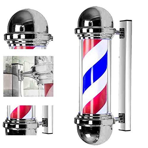 N / A Barbiers Pole lumière Barber Mur extérieur étanche cylindrique Light Box Hair Salon Tube PC Gyrophare Signal 110 / 220v